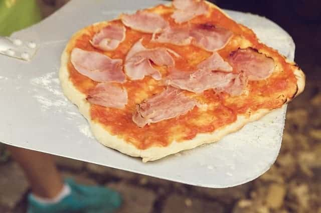 pizza during camping