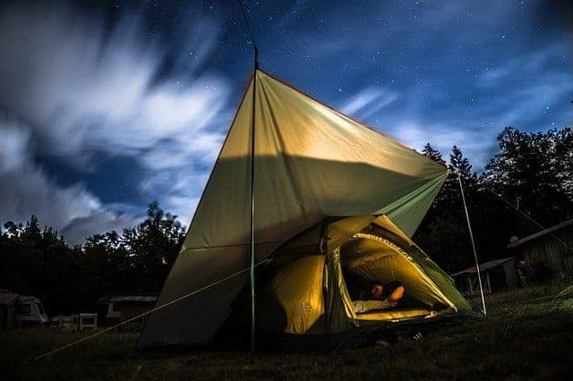 how to cool a tent with electricity